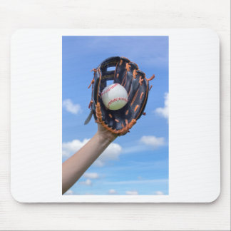 Tapis De Souris Base-ball de participation de bras avec le gant