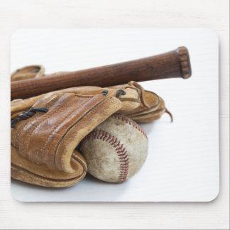 Tapis De Souris Base-ball vintage et batte