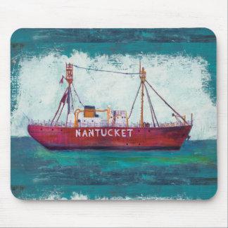 Tapis De Souris Bateau-phare côtier de l'art   Nantucket