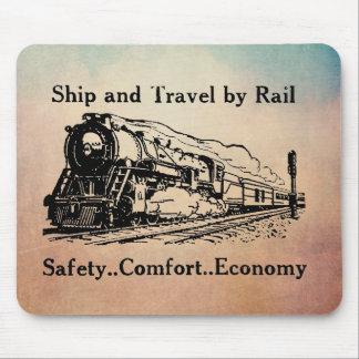 Tapis De Souris Bateau vintage et voyage par chemin de fer