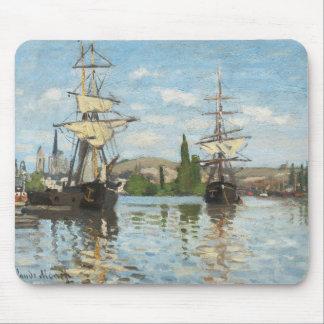 Tapis De Souris Bateaux de Claude Monet | montant sur la Seine à