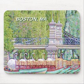 Tapis De Souris Bateaux de cygne de Boston dans le filtre de