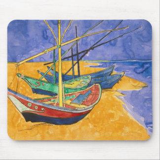 Tapis De Souris Bateaux de pêche de Vincent van Gogh | sur la