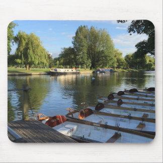 Tapis De Souris Bateaux sur la rivière, Stratford sur Avon, R-U