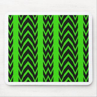 Tapis De Souris Battements de coeur verts et noirs
