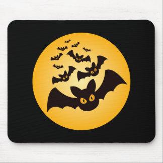 Tapis De Souris Battes éffrayantes de Halloween