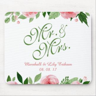 Tapis De Souris Beau mariage floral personnalisé | Mousepad