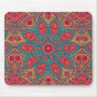 Tapis De Souris Beau motif orange turquoise rose de zen