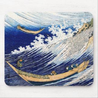 Tapis De Souris Beaux-arts de Japonais de Hokusai de ressacs