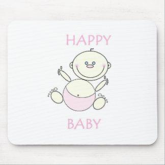 Tapis de souris, bébé heureux tapis de souris
