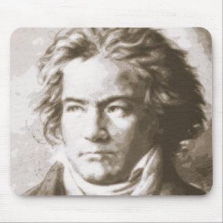 Tapis De Souris Beethoven dans la sépia