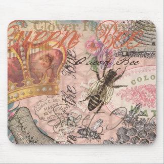 Tapis De Souris Belle copie Girly d'art de reine des abeilles