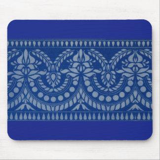 Tapis De Souris belle copie victorienne bleue de décor