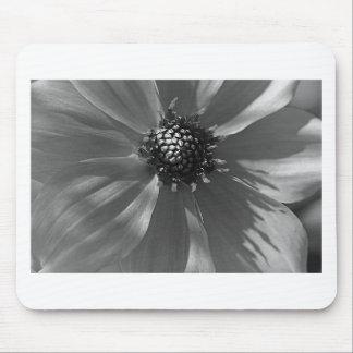 Tapis De Souris Belle fleur noire et blanche