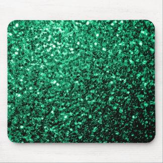 Tapis De Souris Belles étincelles de scintillement de vert vert