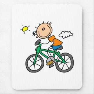 Tapis De Souris Bicyclette d'équitation de garçon de bâton