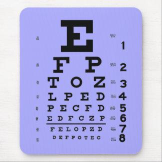 Tapis De Souris Bigorneau de diagramme d'oeil d'optométrie