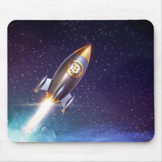 Tapis De Souris Bitcoin BTC Rocket Mousepad