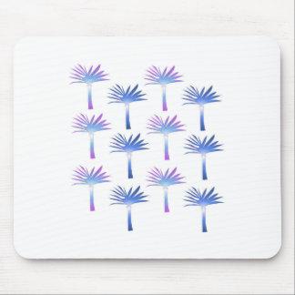 Tapis De Souris Blanc bleu de paumes de conception