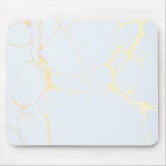 Tapis de souris - bleu de marbre d'or