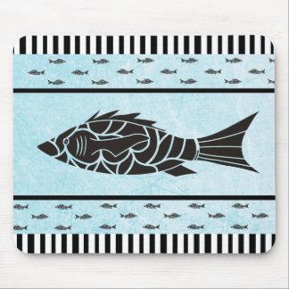 Tapis de souris bleu et noir d'étoiles de mer