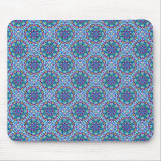 Tapis De Souris Bleu vintage Mousepad de kaléidoscope de coeurs