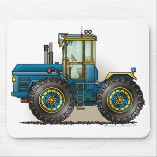 Tapis de souris bleus de tracteur de monstre