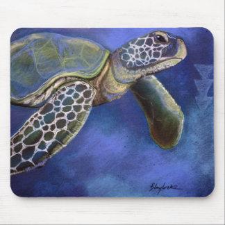 Tapis De Souris Bleus Mousepad de tortue de mer