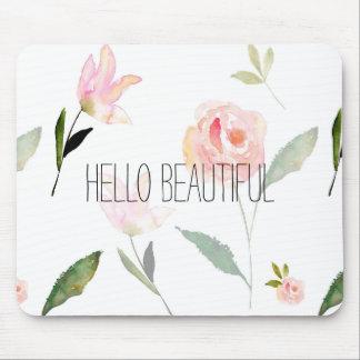 Tapis De Souris Bonjour belle aquarelle florale