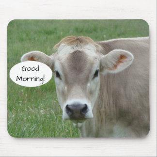 Tapis De Souris Bonjour de votre vache locale du Jersey
