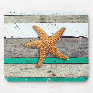 Tapis De Souris Bord de la mer rustique de plage patinée de