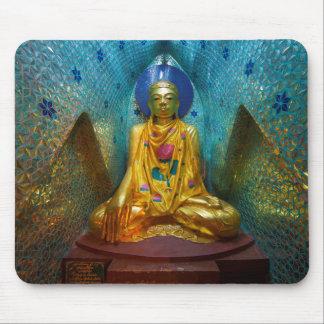 Tapis De Souris Bouddha dans l'alcôve fleurie