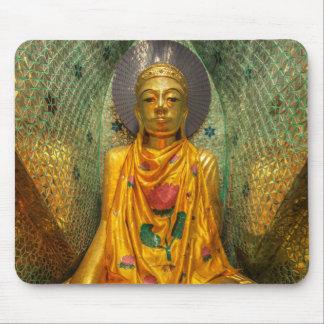 Tapis De Souris Bouddha d'or dans le temple