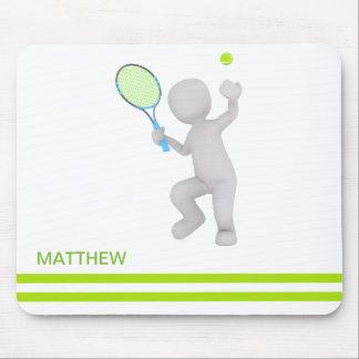 Tapis De Souris boule de raquette de tennis de joueur de tennis 3D
