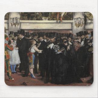 Tapis De Souris Boule masquée de Manet   à l'opéra, 1873