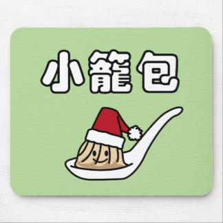 Tapis De Souris Boulette chinoise Dim Sum Père Noël de soupe à