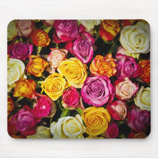 Tapis De Souris Bouquet  de fleurs  (roses)