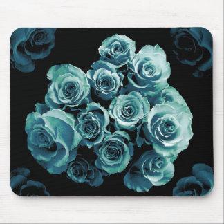 Tapis De Souris Bouquet de rose de BLEU de TURQUOISE