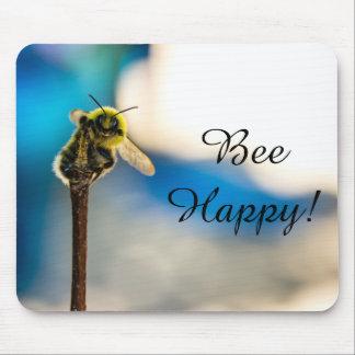 Tapis De Souris Bourdon heureux Mousepad d'abeille