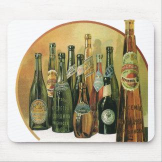 Tapis De Souris Bouteilles à bière importées par cru, alcool,