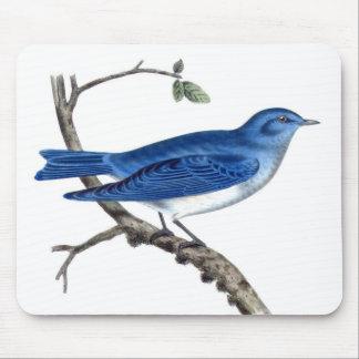 Tapis De Souris Branche bleue vintage Mousepad d'oiseau