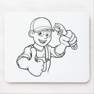 Tapis De Souris Bricoleur de mécanicien ou de plombier avec la