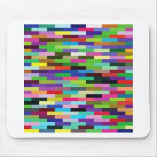 Tapis De Souris briques multicolores
