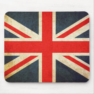 Tapis de souris britannique vintage de drapeau