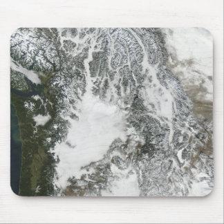Tapis De Souris Brouillard et neige dans le nord-ouest Pacifique