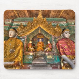 Tapis De Souris Buddhas dans un temple
