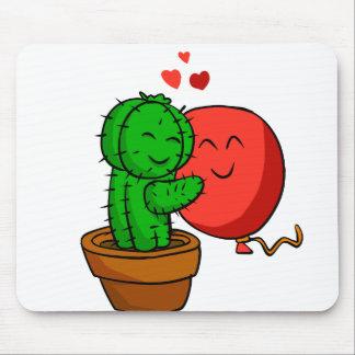 Tapis De Souris Cactus étreignant le ballon