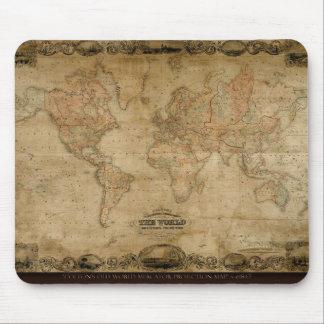 Tapis De Souris Cadeau de concepteur de carte de Vieux Monde