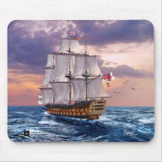 Tapis De Souris Cadeau Mousepads de peinture de navire amiral de