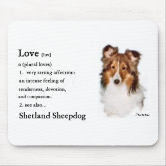 Tapis De Souris Cadeaux de Sheltie de chien de berger de Shetland